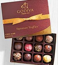Godiva® Signature Chocolate Truffle Assortment - 12 piece Box