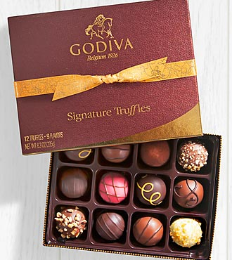 Godiva® Signature Chocolate Truffle Assortment - 12 piece Box