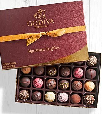 Godiva® Signature Chocolate Truffle Assortment - 24 piece Box