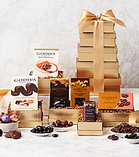 Golden Godiva® Chocolate Tower