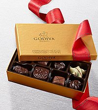 Happy Holidays Godiva® Gold Ballotin - 8-piece