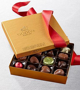 Happy Holidays Godiva® Gold Ballotin - 19-piece