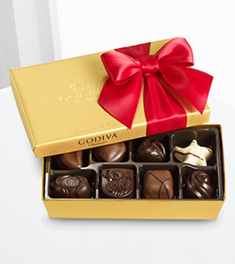 Godiva® Valentine's Day Gold Ballotin - 8-piece