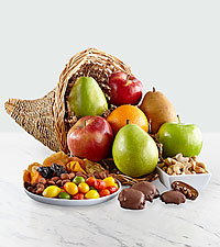 Fall Harvest Fruit, Nuts and Sweets Cornucopia
