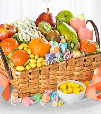 Spring Sensation Fruit & Sweets Gourmet Gift Basket - GOOD