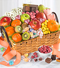 Spring Sensation Fruit & Sweets Gourmet Gift Basket - BETTER
