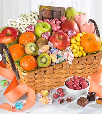 Spring Sensation Fruit & Sweets Gourmet Gift Basket - BETTER