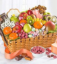 Spring Sensation Fruit & Sweets Gourmet Gift Basket - BEST
