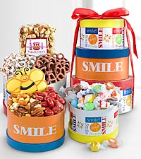 Get Set to Smile Gourmet Gift Tower