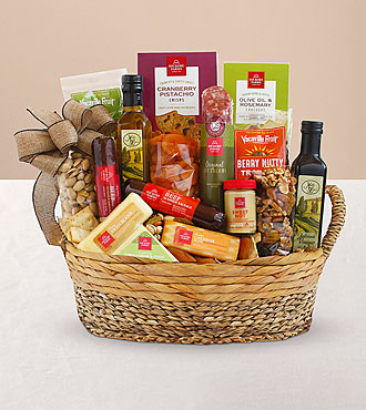 Meat & Cheese Wooden Gift Crate - Best