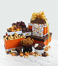 Fall Fancy Gourmet Gift Tower