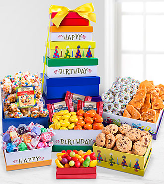Birthday Surprise Gourmet Gift Tower