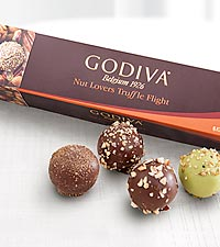 Godiva® Nut Lover Truffle Flight - 6 piece
