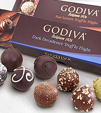 Godiva® Dark Decadence & Nut Lover Truffle Flights - 12 piece