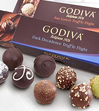 Godiva® Dark Decadence & Nut Lover Truffle Flights - 12 piece