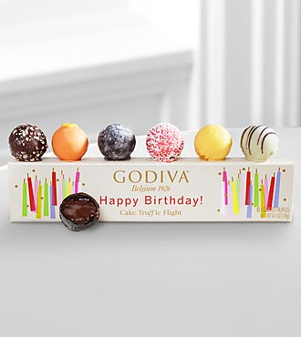 Godiva® Happy Birthday Cake Truffle Flight - 6 piece