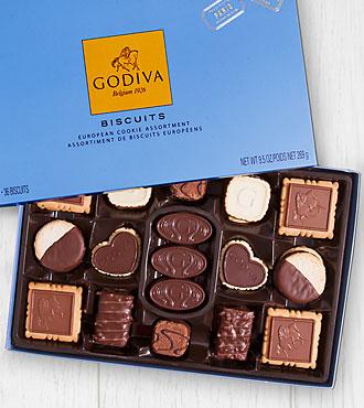Godiva® Biscuit Gift Box - 36-piece