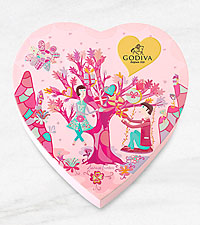 Godiva® Valentine Heart - 14 piece
