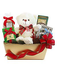 Christmas Bear Gift Basket