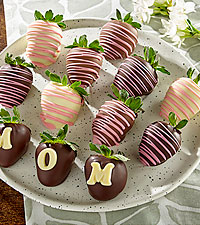 MOM Mother's Day BERRY-GRAM® -  Belgian Chocolate Covered Strawberries - 6pc