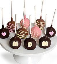 Mother's Day Belgian Chocolate Dipped Cake Pops