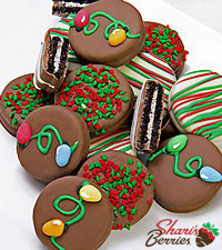 Shari's Berries™ Limited Edition Chocolate Dipped Season's Sweetness Holiday Oreos® 12pc