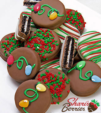 Belgian Chocolate Dipped Holiday Oreos® Cookies