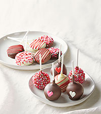Love Hearts Belgian Chocolate Dipped Cake & OREO® Cookie Pops