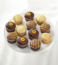 Full Dozen Sunny Days Chocolate-Dipped Cupcakes
