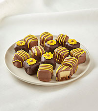 Sunny Days Chocolate-Covered Cheesecake Bites