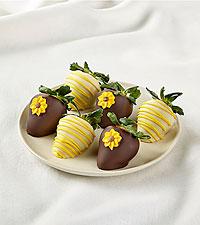 Half Dozen Sunny Days Belgian Chocolate-Covered Strawberries