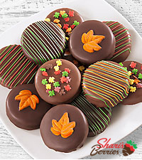 Chocolate Dip Delights™ Fall Real Chocolate Covered Oreos® - 12 pieces