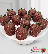 Shari's Berries™ Limited Edition Chocolate Dipped Sea Salt Caramel Strawberries - 12pc