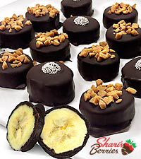 Shari's Berries™ Limited Edition Chocolate Dipped Frozen Banana Bites