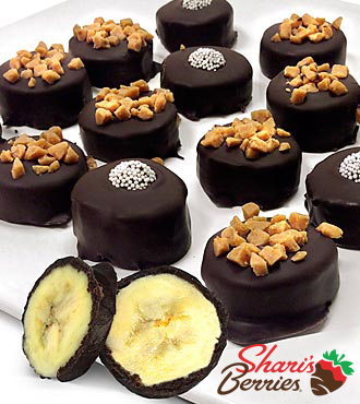 Chocolate Dip Delights™ Real Dark Chocolate Covered Frozen Banana Bites