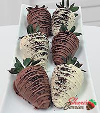 Shari's Berries™ Limited Edition Chocolate Dipped Oreo® Madness Strawberries - 6 piece