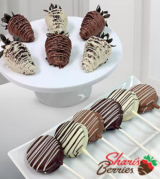 Chocolate Dip Delights™ Oreo® Madness Real Chocolate Covered Strawberries & Cookie Pops