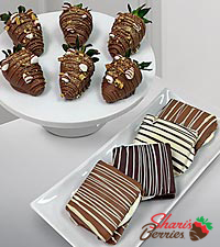Belgian Chocolate Dipped Smore Strawberries & Classic Smores