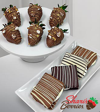 Shari's Berries™ Limited Edition Chocolate Dipped Smore Strawberries & Classic Smores