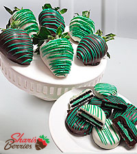 Belgian Chocolate Dipped Mint Strawberry & Oreo® Cookie Combo