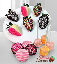 Chocolate Dip Delights™ Real Chocolate Covered Strawberries, Marshmallow & Oreo Cookie Combo