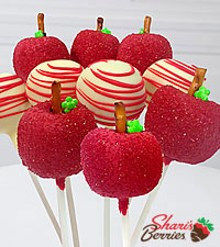 Belgian Chocolate Covered  Apple of My Eye Cake Pops - 10 piece