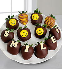 Shari's Berries™ Limited Edition Chocolate Dipped Smile Berry Gram