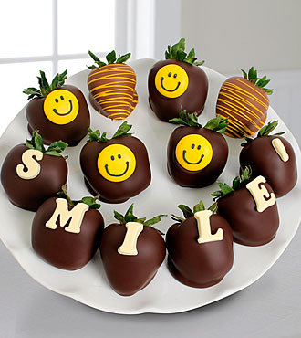 Belgian Chocolate Dipped Smile Berry Gram