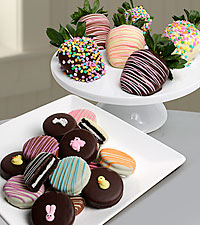 Chocolate Dip Delights™ Chocolate Covered Easter Berries & Oreo® Cookies