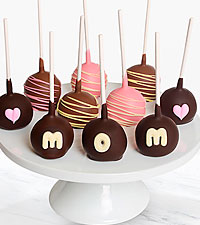 Belgian Chocolate Dipped Mother's Day Cake Pops - 10 piece