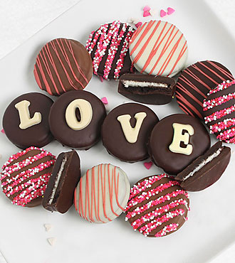 Belgian Chocolate Dipped Love Oreo® Cookie Gram