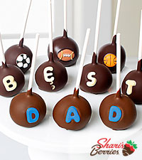 Belgian Chocolate Dipped Best Dad Father's Day Cake Pops