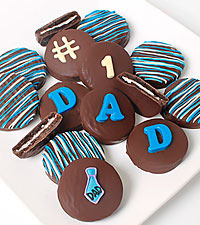Belgain Chocolate Dipped #1 Dad Father's Day Oreo® Gram