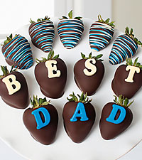 Belgian Chocolate Dipped Best Dad Berry Gram